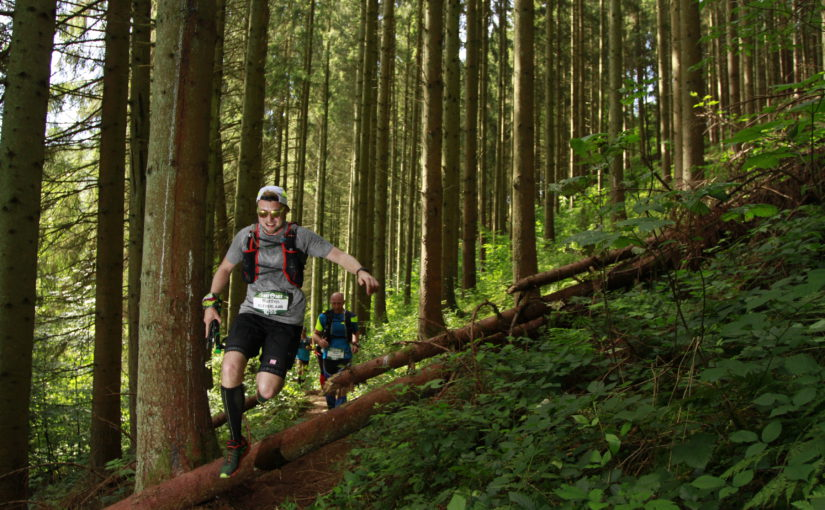Trailrunning at Trail des fantomes 33k course